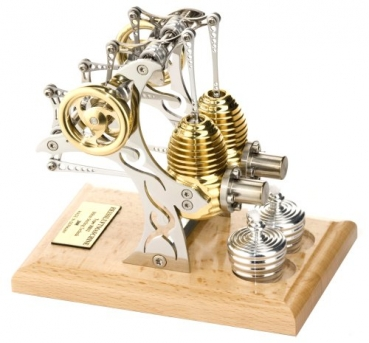 Stirling Motor Böhm HB32 Kit - 2 Zylinder Stirling Bausatz