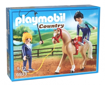Playmobil Country 6933 - Voltigier Training Pferd mit Figuren