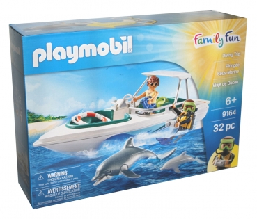 Playmobil 9164 - Tauchsafari Boot mit Delfine - Diving Trip