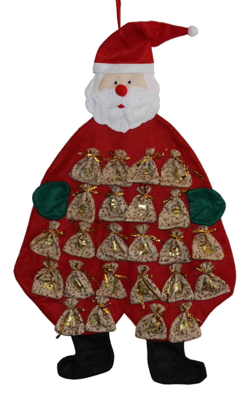 Weihnachtsmann Adventskalender Basteln.Adventskalender Weihnachtsmann Zum Befullen